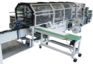 poly bag machine wicket stacker with pin block station and / or stacking table