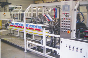 poly bag machine wicket stacker with pin block station
